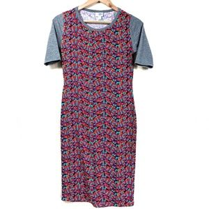 Lularoe Raglan Sleeve Mulit Mosaic Julia Dress F44